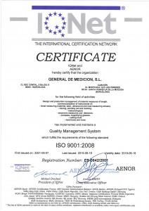 CERTIFICADO IQNET ER-0642_2001