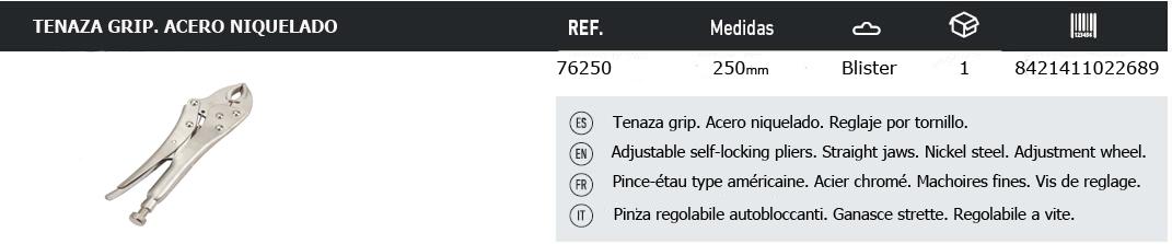 TablaTenazaGrip76250
