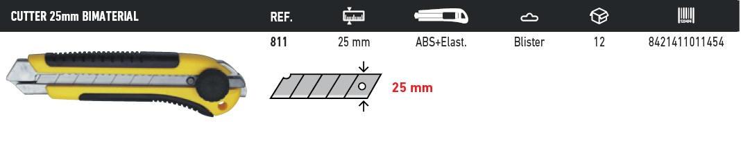 cutter 25mm bimaterial 811