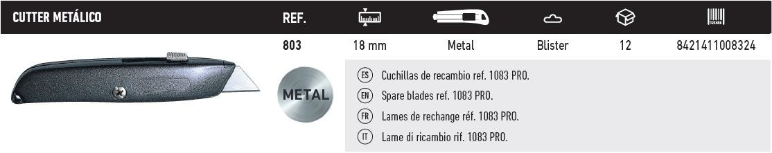cutter metalico 803