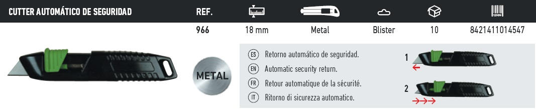 cutter metalico 966