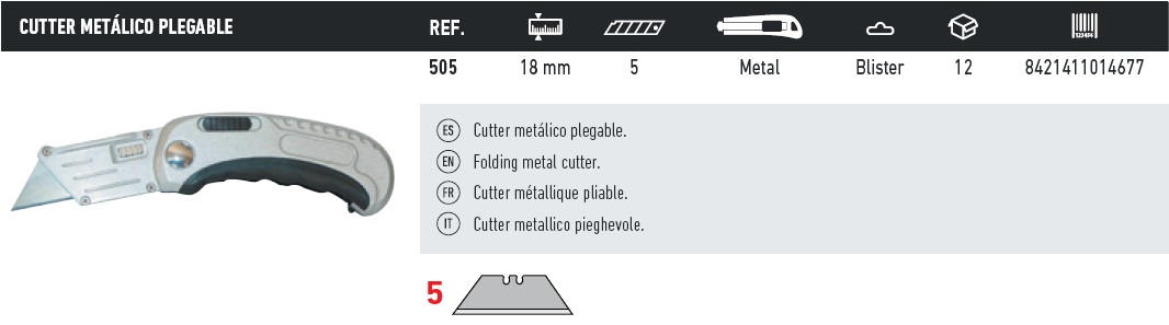 cutter metalico plegable