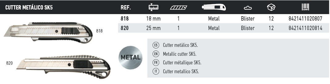 cutter metalico sk5