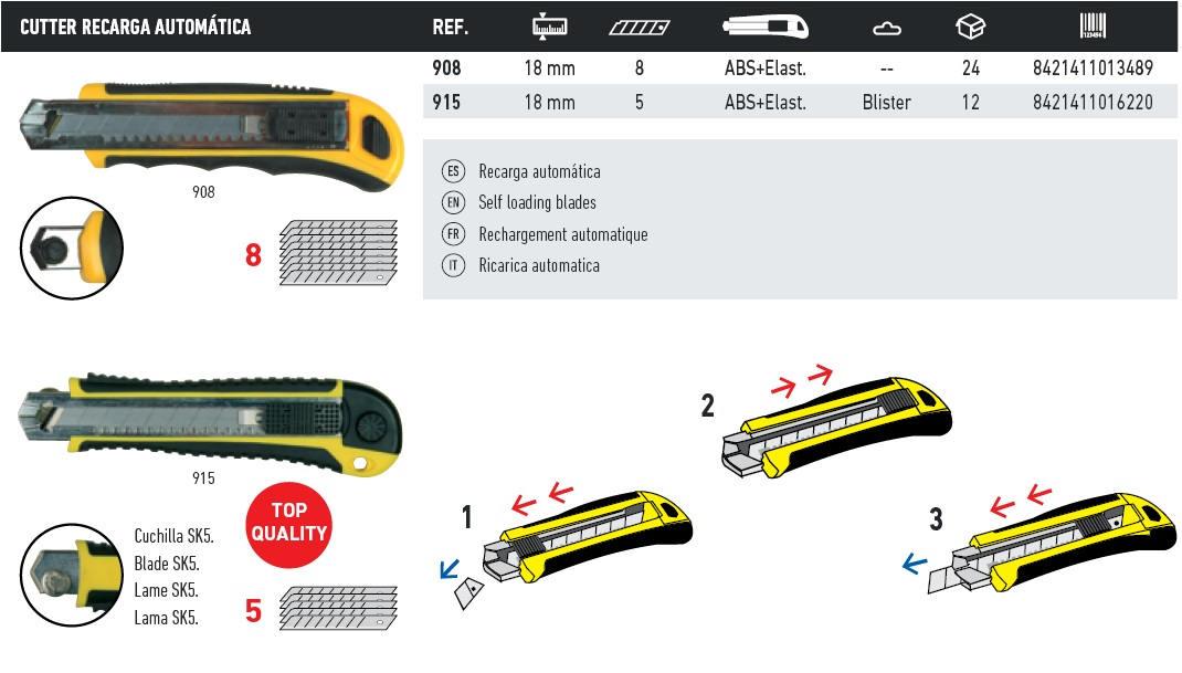 cutter recarga automatica