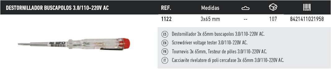 destornillador busca polos 3.0 110-220V AC