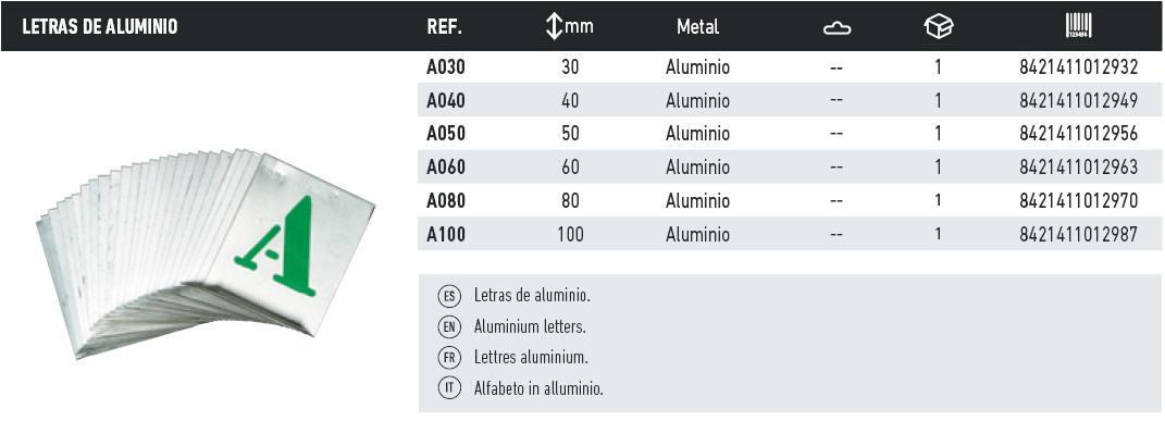 letras aluminio