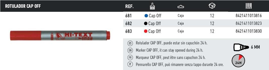 rotulador cap off