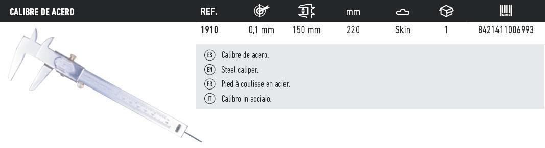 tabla calibre de acero