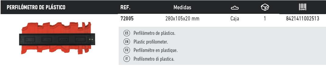 tabla perfilometro plastico