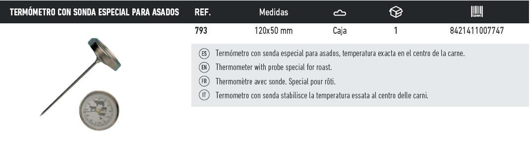 termometro con sonda especial para asados