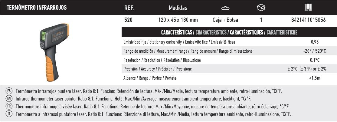 termometro infrarrojos 520