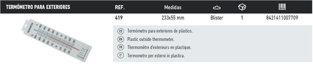 termometro para exteriores