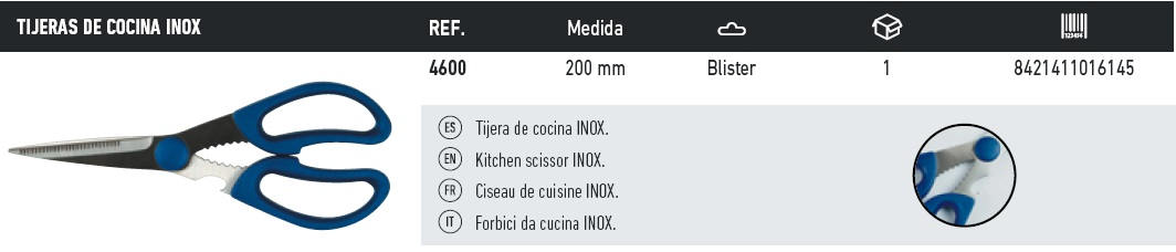 tijeras de cocina inox