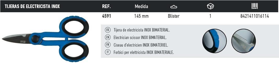 tijeras electricista inox